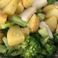 簡単!タコとブロッコリーとジャガイモのバジルソース