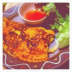 *ベトナムの野菜お好み焼き、バインセオ♡