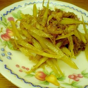 牛蒡とツナの炒め物
