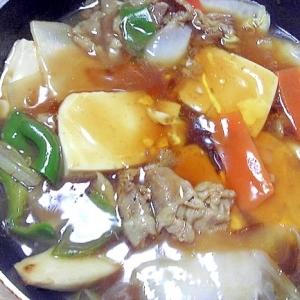 豆腐と牛肉のオイスター中華風煮こみ