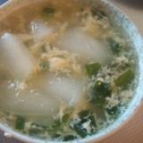 夕顔と卵の中華スープ
