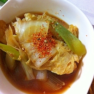 焼肉のたれで味付け簡単!韓国風甘辛鍋