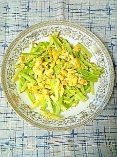 ☆ブロッコリー茎と玉子炒め☆