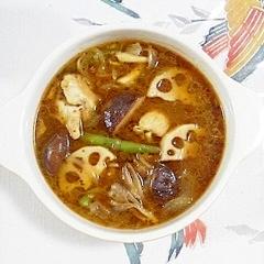 ココナッツオイルで作る、スープカレー