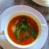 糖質制限! 鶏肉とフレッシュトマトの煮込みスープ