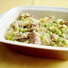 豚肉とうすいえんどう豆