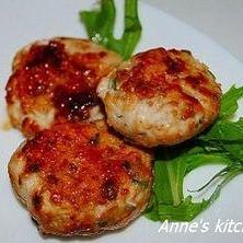 鶏挽肉の大葉味噌団子
