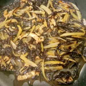 節約レシピ♪大根の皮入り♪ひじきと油揚げの煮物