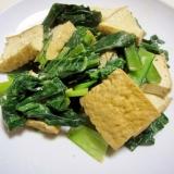 小松菜と厚揚げのオイマヨ炒め