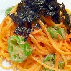 エシレバターたっぷり!たらことオクラのスパゲティ
