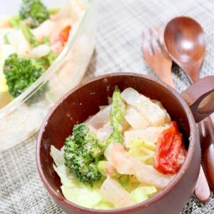 クリーミーでこく旨!うま塩×ヨーグルトの明太サラダ