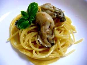 牡蠣の和風カルボナーラ