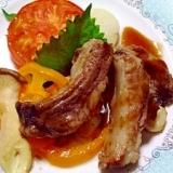 イベリコ豚のスペアリブと焼き野菜 ~バルサミコ~