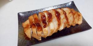むね肉のピリ辛味噌焼き++
