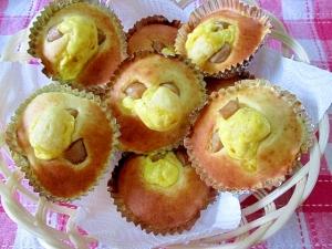 ウィンナーとマヨネーズのカップケーキ