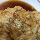 鶏ひき肉ともやしの豆腐ハンバーグ
