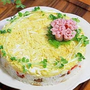 ひな祭りにお勧め♪お寿司ケーキ