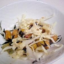 キャベツとヒジキとお豆のサラダ
