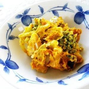 煮物の残りで、和風味の南瓜サラダ