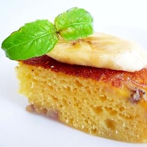 炊飯器とホットケーキミックスで豆乳とバナナのケーキ