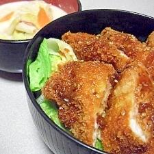 簡単&野菜たっぷり!焼き肉のたれカツ丼♪