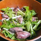 豆イカ(ホタルイカ)と水菜のおかずサラダ