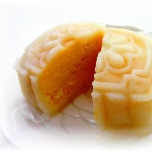 芒果芝士冰皮月餅(マンゴーチーズのひんやり月餅)