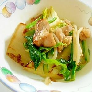 鶏ももと白菜と小松菜ともやしの炒め物
