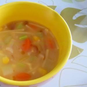 野菜たっぷりパスタスープ++