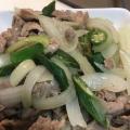 野菜たっぷり! 豚肉とタマネギとオクラのうま塩炒め