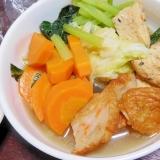 がんもどきと野菜天・野菜の炊き合わせ