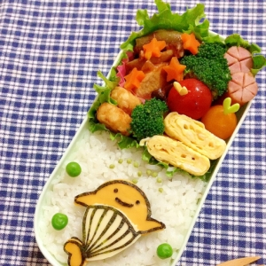 簡単キャラ弁☆クーちゃんのお弁当♪