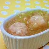 【離乳食】鶏団子&キャベツの味噌煮