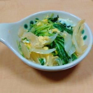 新玉と水菜の卵とじ