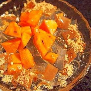 寒天と柿 てんこ盛り おやつプレート
