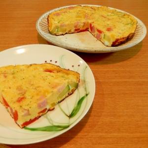 ベーコンと夏野菜のオムレツ☆