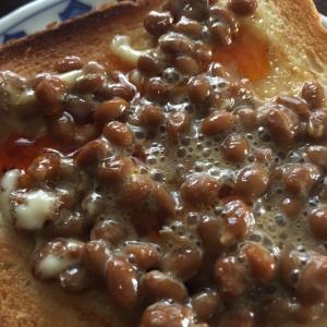 ラー油が美味しいマヨ納豆トースト
