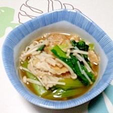 レンジで!小松菜のあっさり煮++