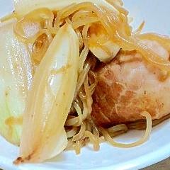 豚まき豆腐の煮物