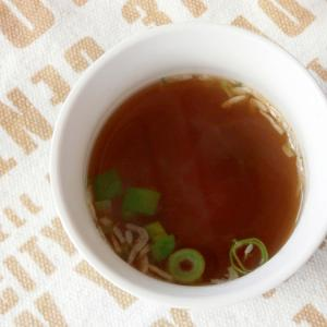 干しえび・たまねぎの中華スープ