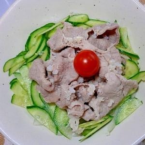 野菜と一緒に!豚肉の冷しゃぶ