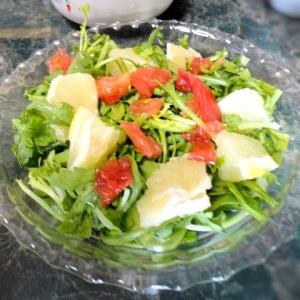 春菊とグレープフルーツの爽やかなサラダ
