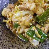 鶏キャベツピーマンの味噌炒め