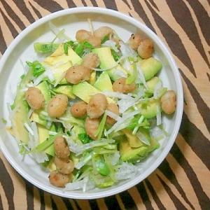 揚げ大豆・アボカドのサラダ