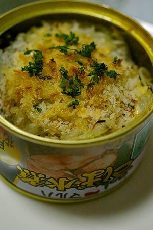 サバ缶のパン粉マヨネーズ焼き