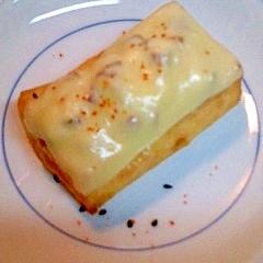 厚揚げのしいたけチーズ焼き