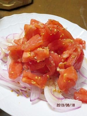 ごまたっぷり♪トマトサラダ
