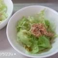 チーズとツナのグリーンサラダ♪