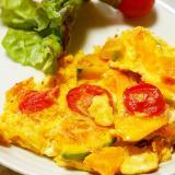 南瓜とプチトマトの簡単オムレツ!