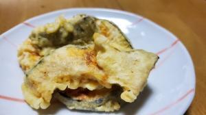 バターかぼちゃの天ぷら